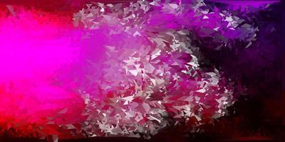 patrón de mosaico de triángulo vector rosa oscuro.