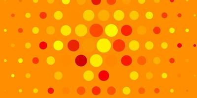 Light Yellow vector background with bubbles.