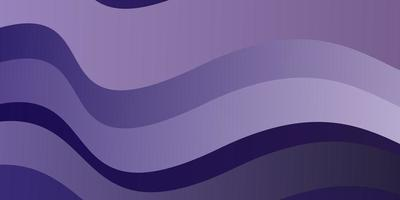 Fondo de vector violeta claro con líneas dobladas.