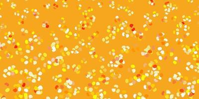 patrón de vector amarillo claro con formas abstractas.