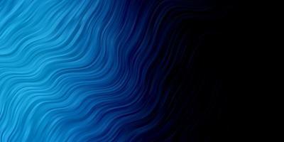 plantilla de vector azul oscuro con líneas torcidas.