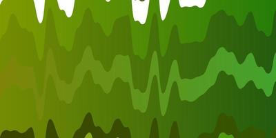 textura de vector verde claro, amarillo con curvas.