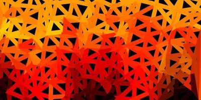 Dark orange vector gradient polygon texture.
