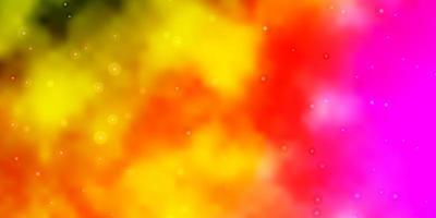 plantilla de vector multicolor claro con estrellas de neón.