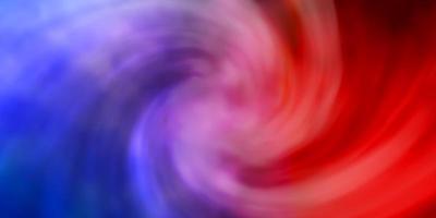 patrón de vector azul claro, rojo con nubes.