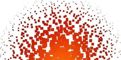 textura de vector naranja claro en estilo rectangular.