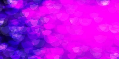 Dark Purple vector background with spots.