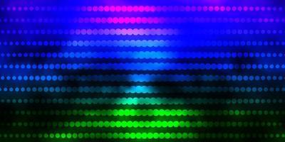 textura de vector multicolor oscuro con círculos.