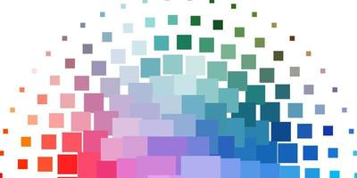plantilla de vector multicolor claro en rectángulos.