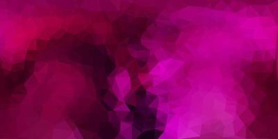 Dark pink vector triangle mosaic pattern.