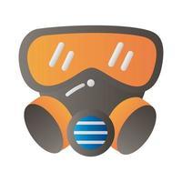 biological hazard mask protection vector