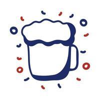 icono de estilo de línea de bebida de cerveza