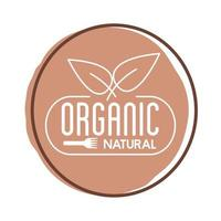 organic nature lettering block style icon vector