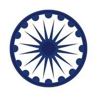 Ashoka Shakra Indian independence day flat style icon vector
