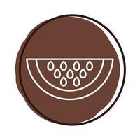 icono de fruta de sandía