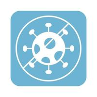 stop covid19 virus particle line style icon