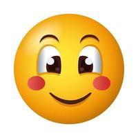 happy emoji face gradient style icon vector