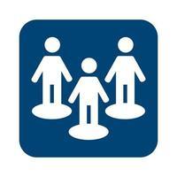 grupo de humanos avatares icono de estilo de línea vector