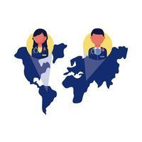 doctores en el mapa global