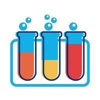 test tubes flat style icon vector