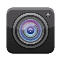 camera app button menu isolated icon