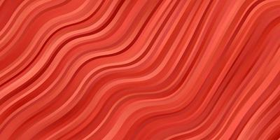 Light Orange vector pattern with curves.