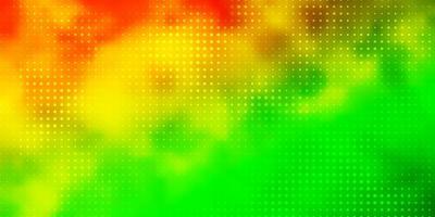 textura de vector verde claro, amarillo con discos.