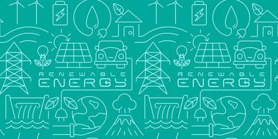 Renewable energy seamless background vector
