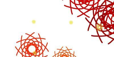 patrón de vector naranja claro con formas abstractas.