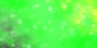Light Green, Yellow vector texture with disks.