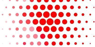 patrón de vector rojo claro con esferas.