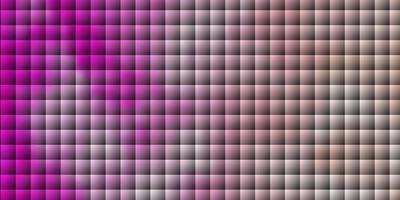textura de vector rosa claro en estilo rectangular.