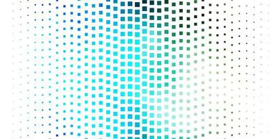 Telón de fondo de vector azul oscuro con rectángulos.