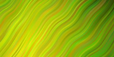 plantilla de vector verde claro, amarillo con líneas.