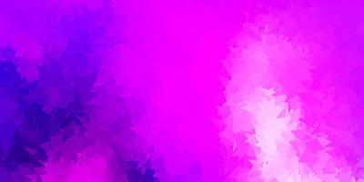 Light purple, pink vector abstract triangle background.