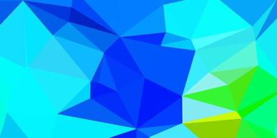 Dark blue, green vector poly triangle layout.