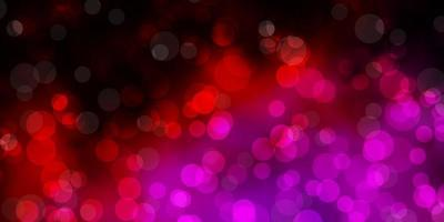 Dark Pink vector backdrop with dots.