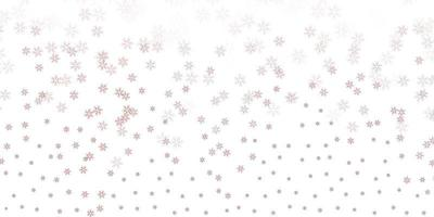 Light pink vector abstract template with leaves.
