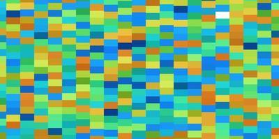 textura de vector azul claro, amarillo en estilo rectangular.