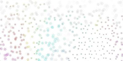 Light multicolor vector abstract backdrop with leaves.