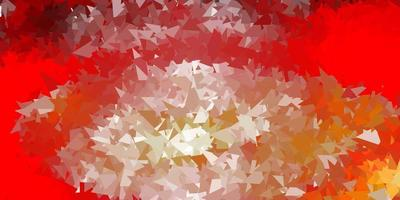 Light red, yellow vector triangle mosaic backdrop.