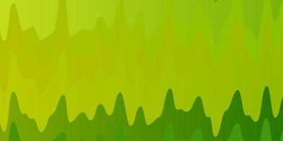 Light Green, Yellow vector template with curves.