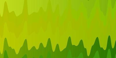 plantilla de vector verde claro, amarillo con curvas.