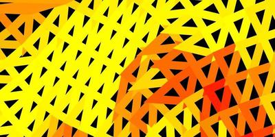Dark yellow vector poly triangle layout.