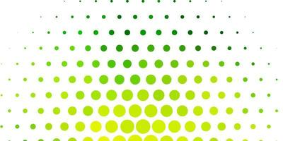 Light Green, Yellow vector layout with circle shapes.