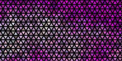 Fondo de vector violeta, rosa claro con líneas, triángulos.