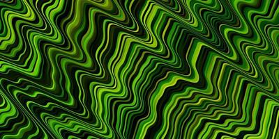 Light Green, Yellow vector pattern with curves.