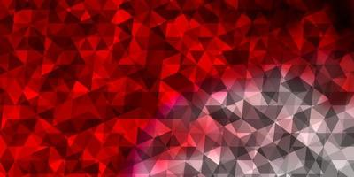 Light Red vector background with polygonal style.