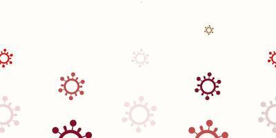 Plantilla de vector rojo claro con signos de gripe