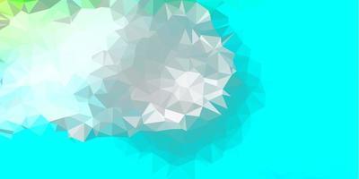 Light blue, green vector triangle mosaic design.
